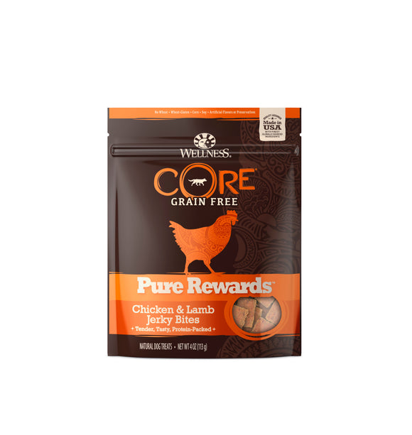 [WN-PRCL] Wellness CORE Pure Rewards (Chicken & Lamb Jerky Bites) 4oz