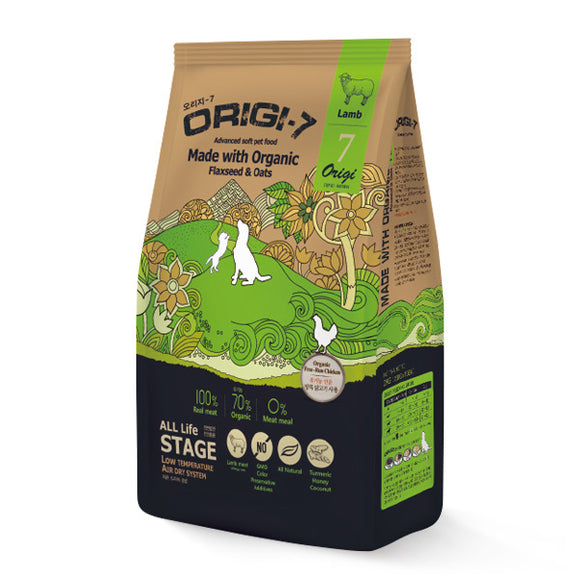 [BWOGLAM1.2] Bow Wow Origin-7 Lamb Air Dried Food for Dogs 1.2kg (200g x 6bags)