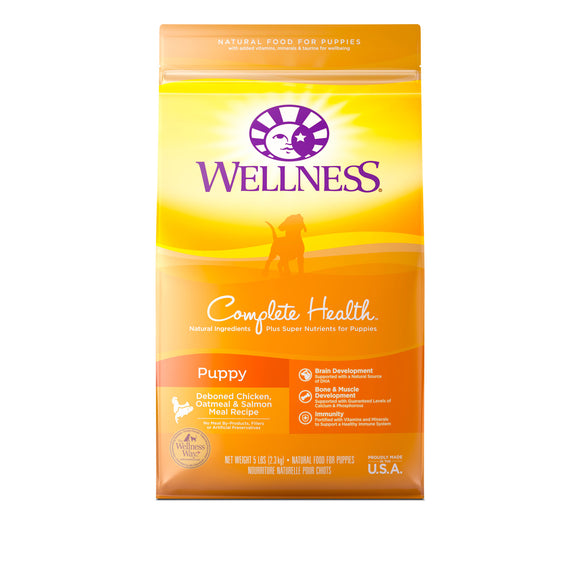 Wellness Complete Health Puppy Dry Food (Deboned Chicken, Oatmeal & Salmon Meal) 2 sizes