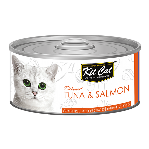 [1carton] Kit Cat Topper Series Canned Food (Tuna & Salmon) 80g x 24cans