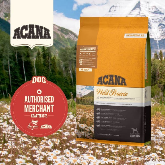 Acana Regionals Wild Prairie Dry food for Dogs (4 sizes)
