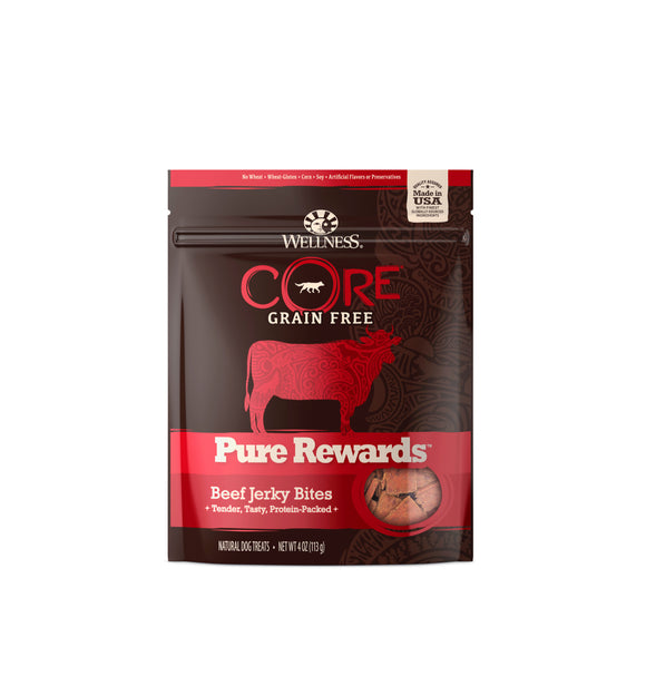 [WN-PRBEEF] Wellness CORE Pure Rewards (Beef Jerky Bites) 4oz
