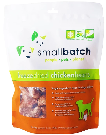 [SBT-1] Smallbatch Freeze-Dried ChickenHearts Treats for Dogs (3.5oz)