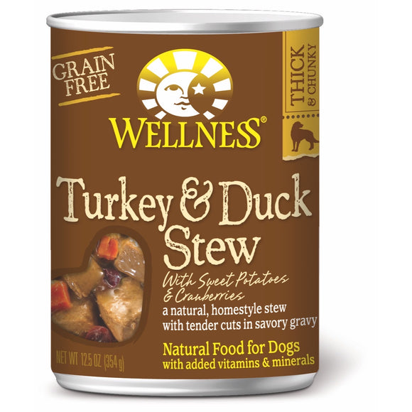 [WN-STTURKDUCK]Wellness Turkey & Duck Stew (Grain-Free) 12.5oz