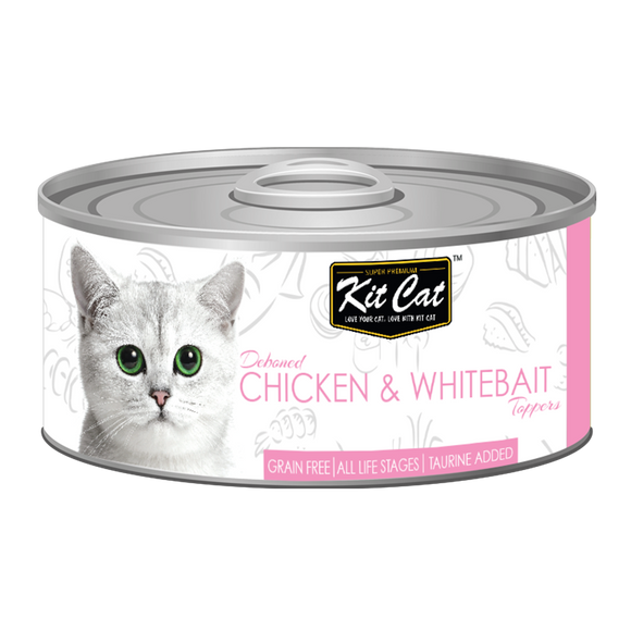 [1carton] Kit Cat Topper Series Canned Food (Chicken & Whitebait) 80g x 24cans