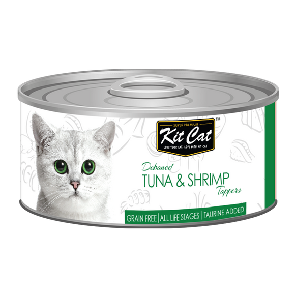 [1carton] Kit Cat Topper Series Canned Food (Tuna & Shrimp) 80g x 24cans