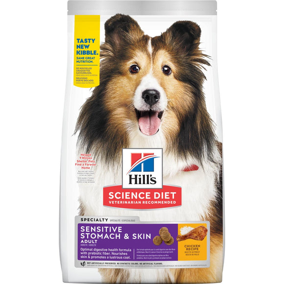 (8839) Hill's Science Diet Adult Sensitive Stomach & Skin dog food (30lbs)