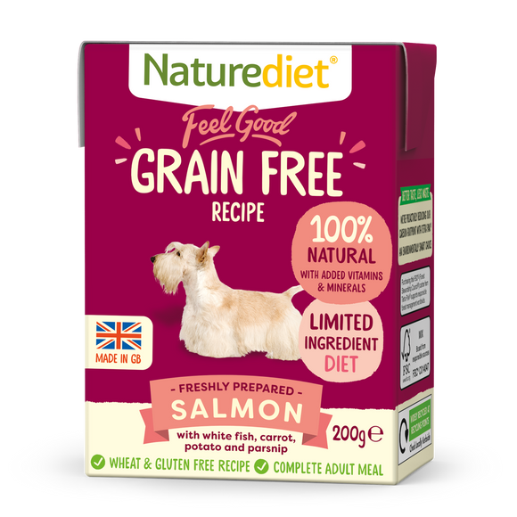 [Buy3free1] Naturediet Feel Good Grain Free Wet Food for Dogs (Salmon) 2 sizes