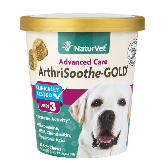 [NV-SCC-ATS] NaturVet Arthrisooth-GOLD Level 3 Soft Chews (70ct/5.9oz/168g)