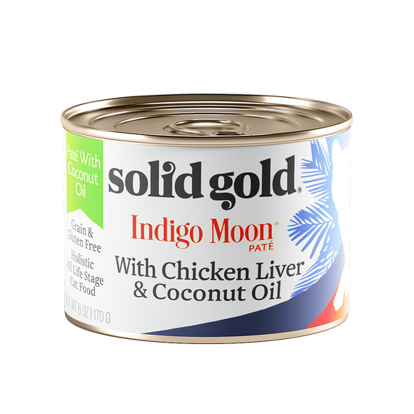 [SG-00049] Solid Gold Indigo Moon with Chicken Liver & Coconut Oil (6oz)