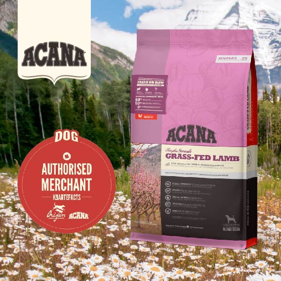 Acana Single Grass-Fed Lamb Dry Food for Dogs (4 sizes)