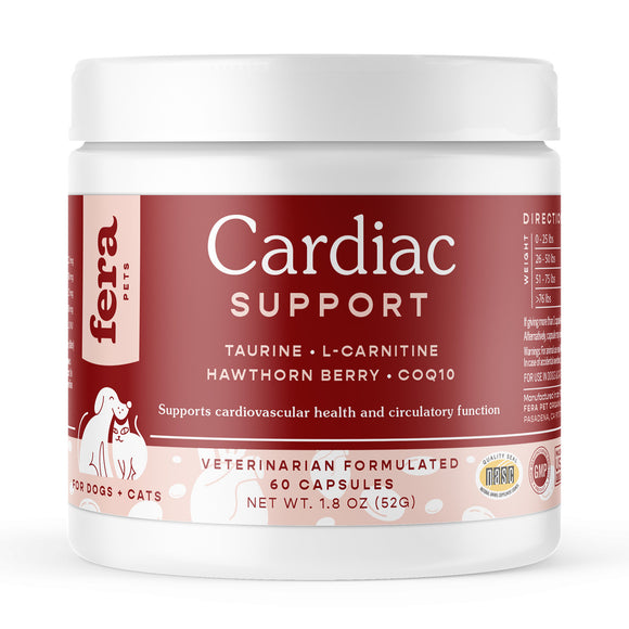 Fera Pet Organics Cardiac Support Supplements for Dogs & Cats (1.8oz)