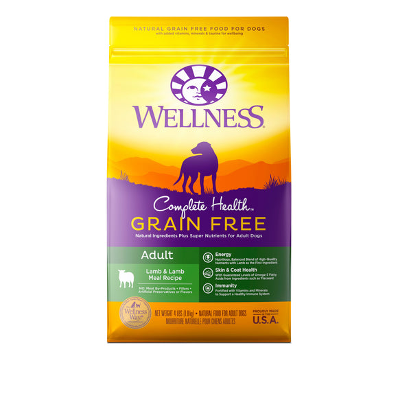 Wellness Complete Health Grain Free Lamb & Lamb Meal for Adult Dog (3 sizes)