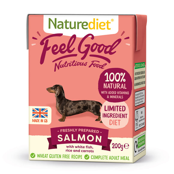 [Buy3free1] Naturediet Feel Good Nutritious Wet Food for Dogs (Salmon) 2 sizes