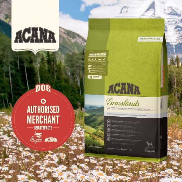 Acana Regionals Grassland Dry Food for Dogs (4 sizes)