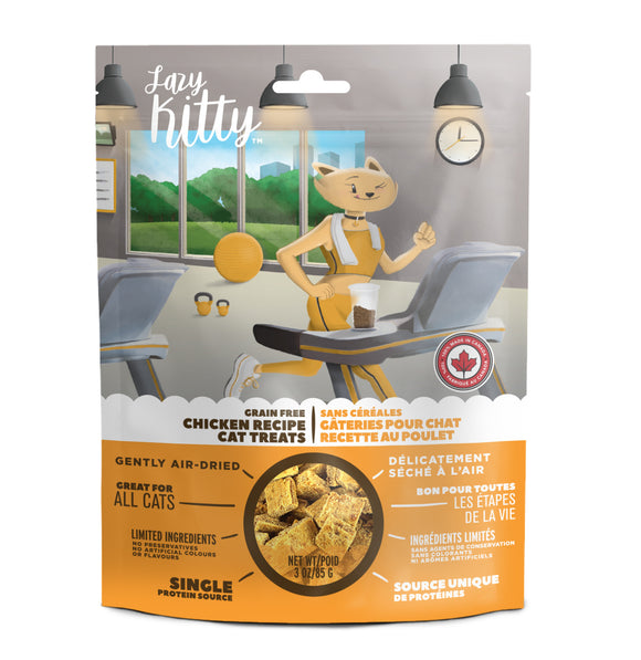 Canadian Jerky Lazy Kitty Grain Free Chicken Recipe Cat Treats (3oz)