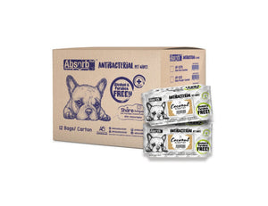 [1carton=12packs] Absorb Plus Antibacterial Pet Wipes (Coconut) 80pcs/pack