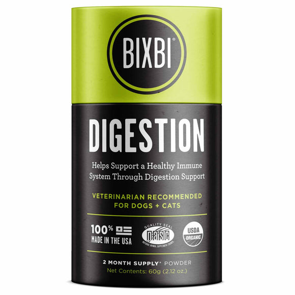 Bixbi Digestion Powdered Mushroom Supplement for Dogs & Cats (60g)