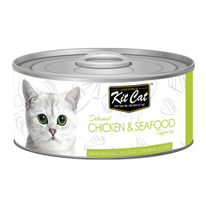 [1carton] Kit Cat Topper Series Canned Food (Chicken & Seafood) 80g x 24cans