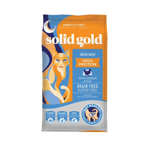 Solid Gold Indigo Moon Chicken & Egg Recipes Dry Food for Cats (3 sizes)