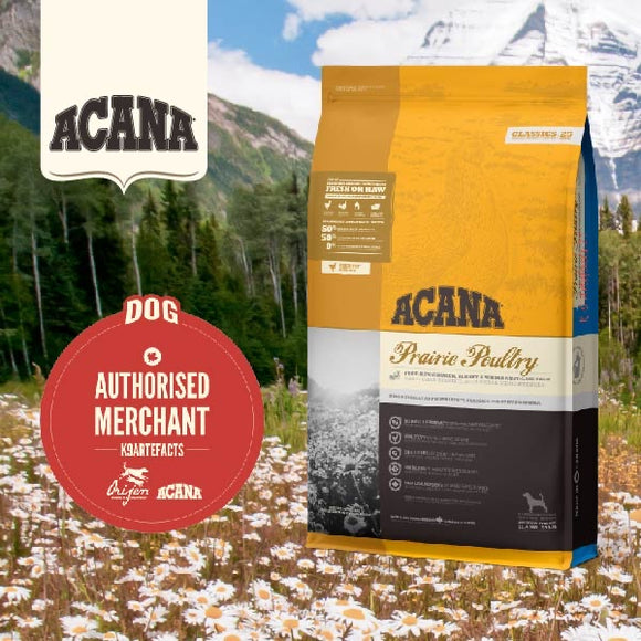 Acana Classic Prairie Poultry Dry Food for Dogs (3 sizes)