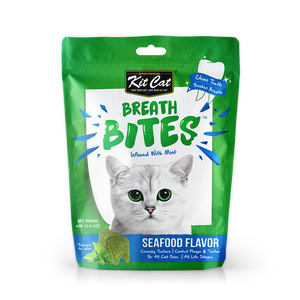 [3 for $8.50] Kit Cat Breath Bites Seafood Treats for Cat (60g)