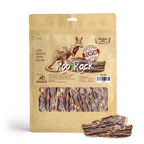 Absolute Bites Air Dried Roo Treats (Roo Rack) for Dogs (300g)