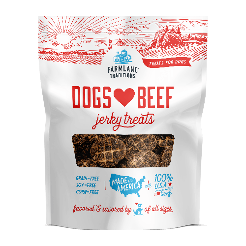 [FT-DLB05] Farmland Traditions Beef Jerky Treats for Dogs (5oz)