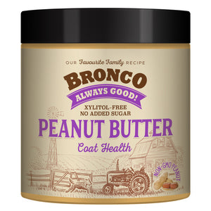 Bronco Peanut Butter Coat Health Treats for Dogs (250g)