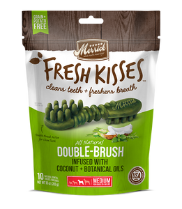 [MR-66022] [30% OFF] Merrick Fresh Kisses infused with Coconut + Botanical Oils Breath Strips (Medium Dog, 25-50lbs) (6pcs/pkt)