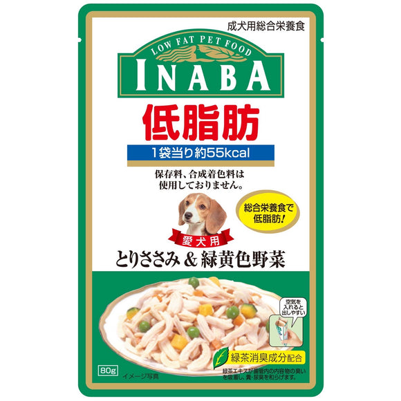 [CRD03] Inaba Low Fat Pouch (Chicken Fillet & Vegetable in Jelly) 80g