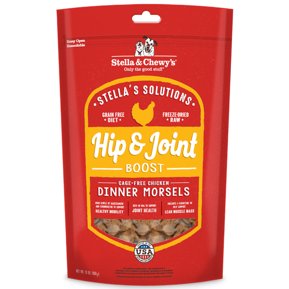 [SC-SOL-FDCHJ-13] Stella & Chewy's Stella's Solution Freeze-Dried Grain Free Dinner Morsels for Dogs (Hip & Joint Boost) 13oz
