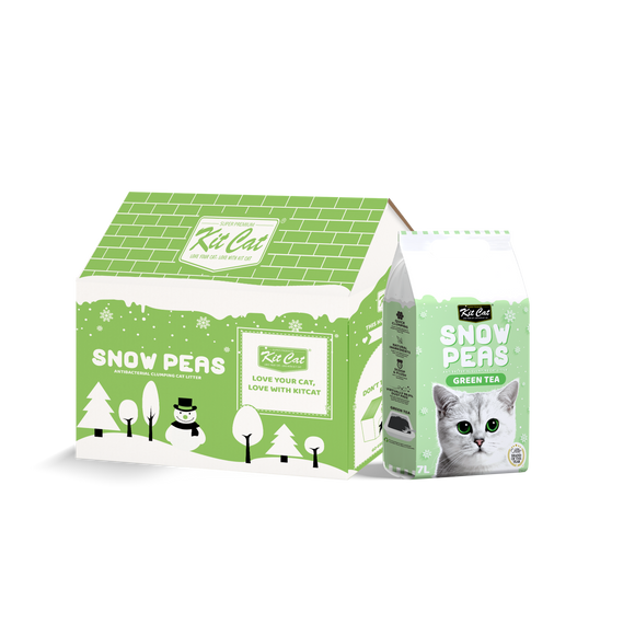 [2 for $15] Kit Cat Snow Peas Antibacterial Clumping Cat Litter (Green Tea) 7L
