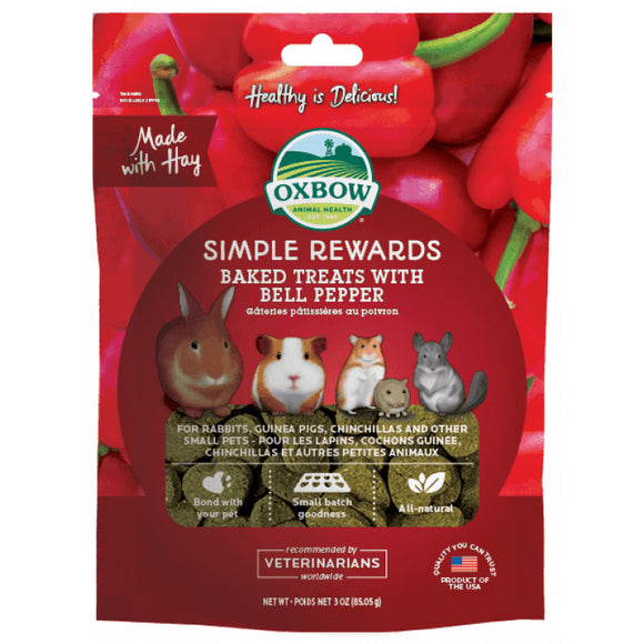 [O422] Oxbow Baked Treats with Bell Pepper (85g)