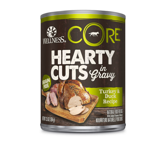 [WN-CanCoreHCTD] Wellness Core Turkey & Duck Hearty Cuts in Gravy (12.5oz)