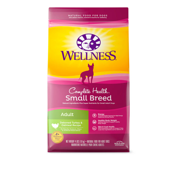 Wellness Complete Health Small Breed Dry Food for Adult (Turkey & Oatmeal) 2 sizes