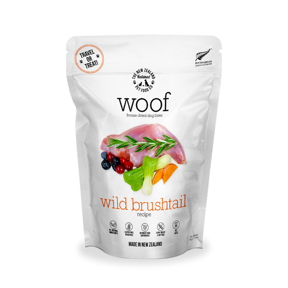 NZ Natural WOOF Freeze Dried Raw Food (Wild Brushtail) 3 sizes