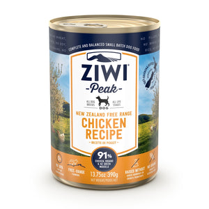 ZIWI® Peak Wet Canned Food Chicken Recipe for Dogs (390g)