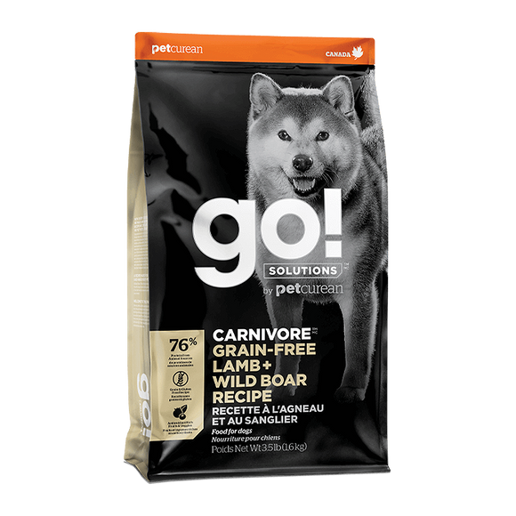 Petcurean Go! Dry Food (Lamb + Wild Boar Recipes) for Dogs (2 sizes)