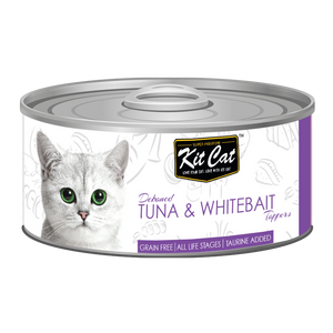 [1carton] Kit Cat Topper Series Canned Food (Tuna & Whitebait) 80g x 24cans