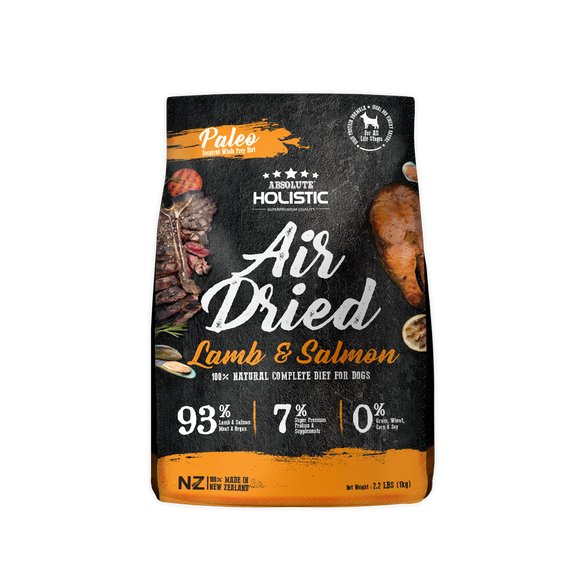 Absolute Holistic Air Dried Dry Food (Lamb & Salmon) for Dogs (1kg)
