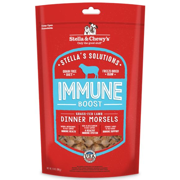 [SC-SOL-FDLI-13] Stella & Chewy's Stella's Solution Freeze-Dried Grain Free Dinner Morsels for Dogs (Immune Boost) 13oz