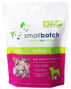 [SBT-2] Smallbatch Freeze-Dried TurkeyHearts Treats for Dogs (3.5oz)