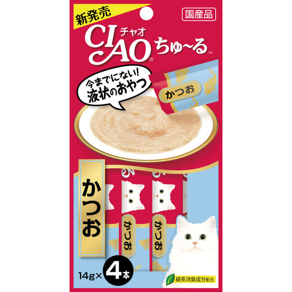 [CIS072] CIAO Chu Ru Tuna (Katsuo) for Cats (14gx4)