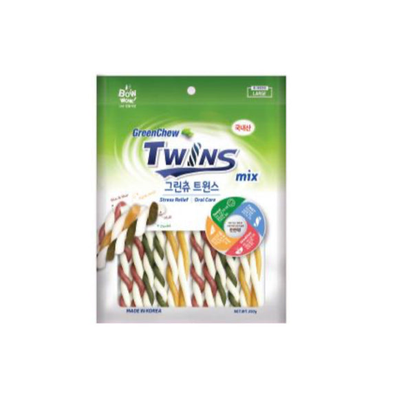 [BW2044] Bow Wow Green Chew Twins Dental Chew for Dogs (L) 250g