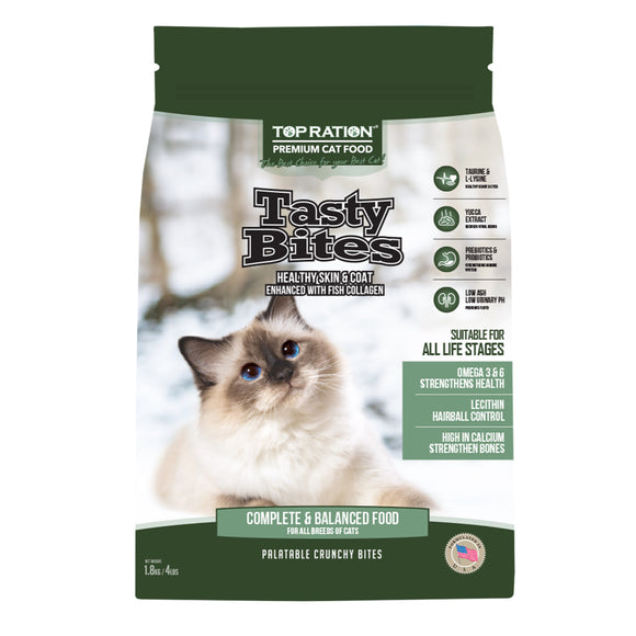 Top Ration Tasty Bites Complete Food for Cats (All Life Stages) 3 sizes
