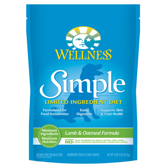 Wellness Simple Limited Ingredient Lamb & Oatmeal Recipe Dry Food for Dogs (2 sizes)