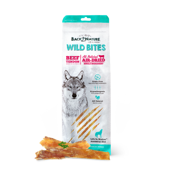 Back2Nature All Natural Air-Dried Wild Bites Treats for Dog (Beef Tendon)