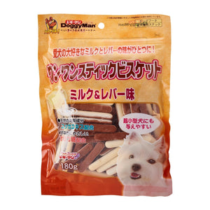 [DM-80712] DoggyMan Bowwow Milk & Chicken Liver Stick Biscuit for Dogs (180g)