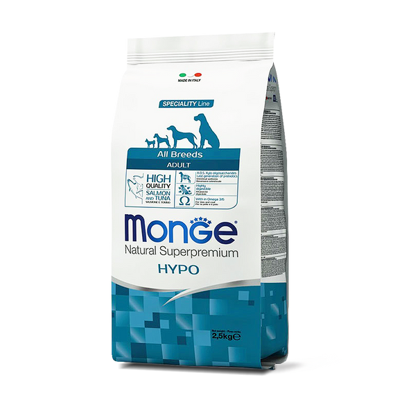 [MC-1167] Monge Natural Superpremium Adult Salmon & Tuna Recipes Dry Food for Dogs (2.5kg)